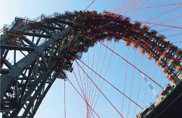 Предварительные работы по возведению моста