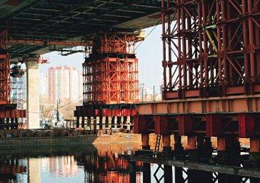 Технология возведения опор моста